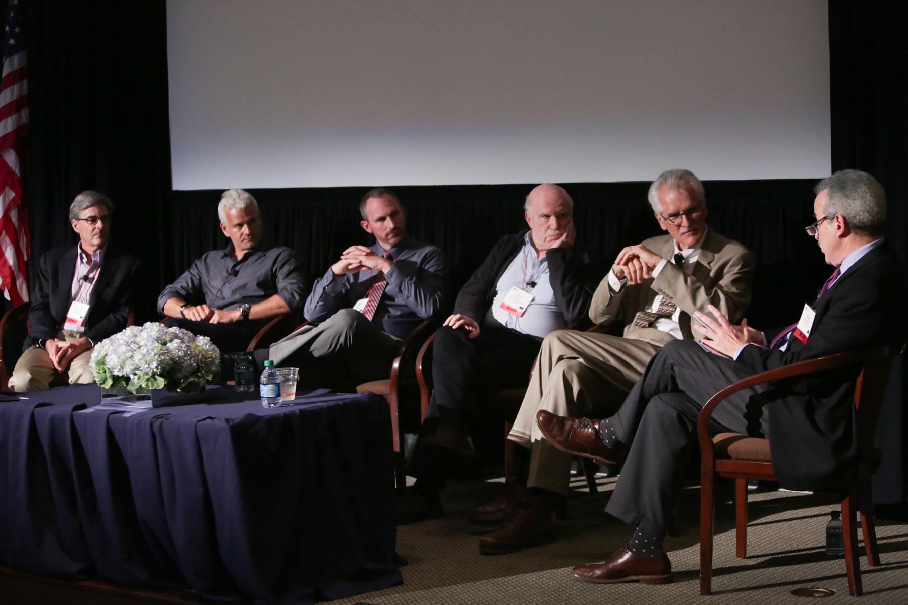 642_Panelists Thomas Robinson, Adam Gazzaley, Jason Chein, Dan Romer, Charles Czeisler, Moderator, Harold Koplewicz