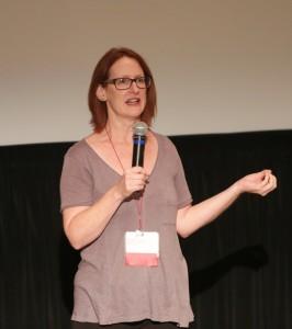 Rebecca Collins presenting Sex and Media research priorities