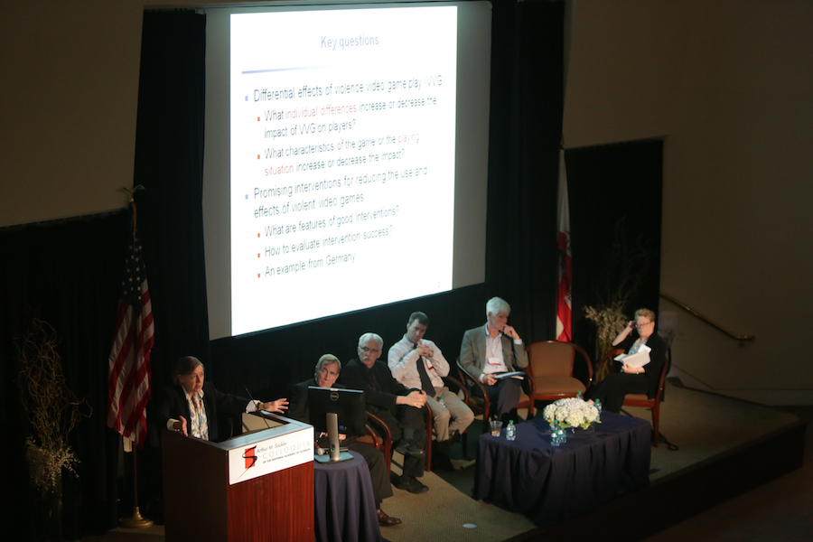 Moderator: Rowell Heusmann Amos Tversky Collegiate Professor of Communication Studies and Psychology and Research Professor in the Institute for Social Research, University of Michigan Craig A. Anderson, Distinguished Professor and Director, Center for the Study of Violence, Iowa State University Tom Hummer, Assistant Research Professor, Department of Psychiatry, Indiana University School of Medicine Jay Hull, Professor of Psychology, Chair, Department of Psychological and Brain Sciences, Dartmouth College Barbara Krahe, Psychologist, University of Potsdam, Germany Angela Campbell, Co-Director, Institute for Public Representation, Professor of Law, Georgetown Law